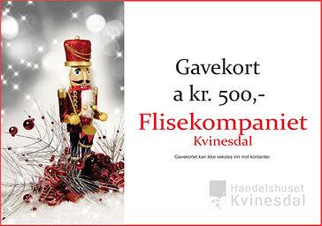 Gavekort Flisekompaniet Julekalender`n K