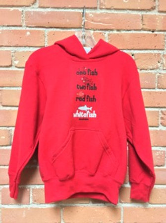 Youth 1 fish red hoodie