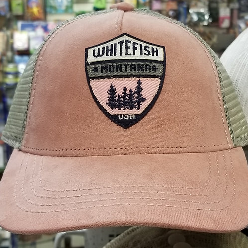 Pink Whitefish MT baseball cap