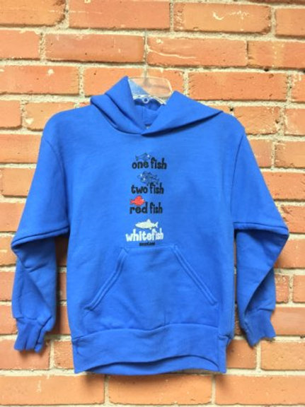 Youth Blue 1 Fish Sweatshirt