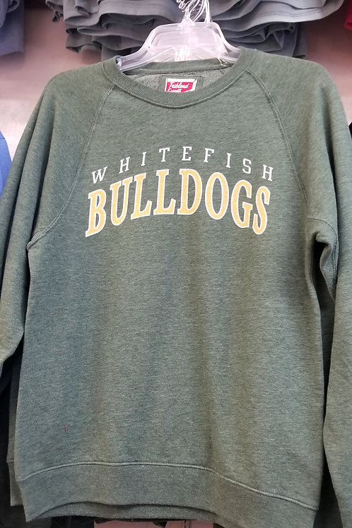 Whitefish Bulldog Crew Neck Sweatshirt