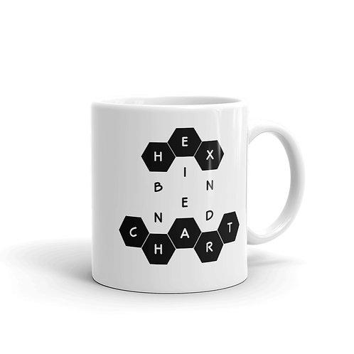 Dataviztypography - Hex Binned Chart (black) - Mug