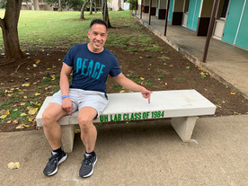 Class of '84 donates bench to UH Lab