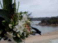 Balmoral Bathers Wedding Ceremony, flowers, Rocky point Balmoral