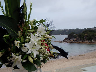 Balmoral Bathers Wedding Ceremony, flowers, Rocky point Balmoral