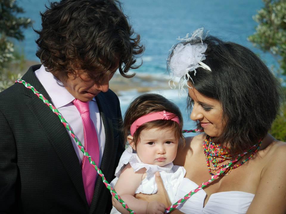 Unity Binding ceremony with child