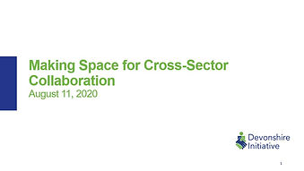 Making Space for Cross-Sector Collaborat