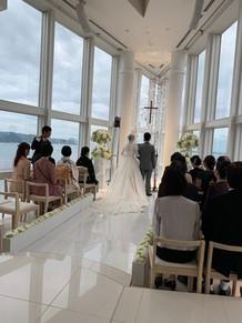 結婚式でした