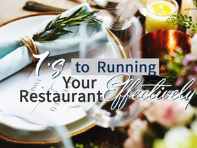 7 'S's to Running Your Restaurant Efficiently