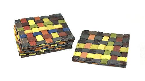 Onderzetters bruin/geel