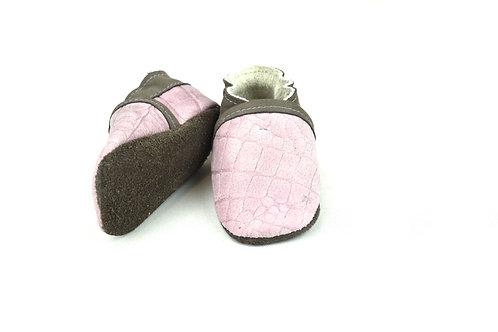 Kinderschoentjes roze/taupe (maat 19)