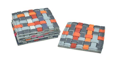Onderzetters grijs/oranje