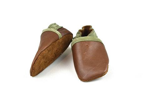 Kinderschoentjes bruin/kaki (maat 21)