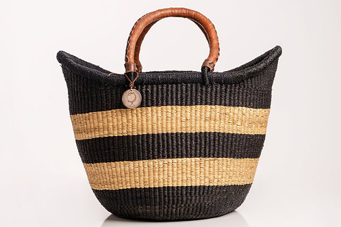 Extra Large Market basket with handwoven handles