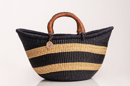 Large straw Beach Basket. Sustainable straw bag