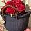 Small Mini basket. Mini black basket. Extra small black basket with leather handles