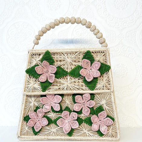 The Lady Lucia Bag- Hibiscus