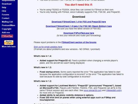 【P3D環境】FSHostClient 1.4が起動しない件