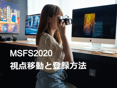 MSFS2020 視点移動と登録方法
