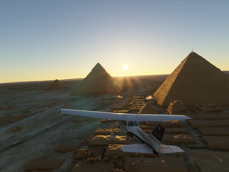 Microsoft Flight Simulatorで行く!世界遺産!三大ピラミッド(エジプト)編