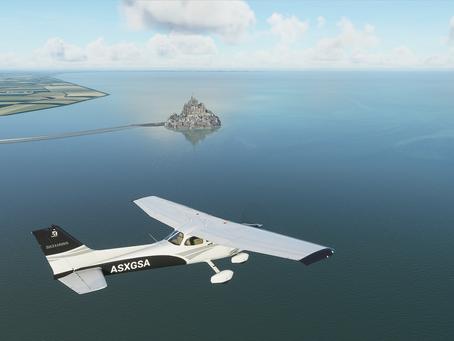 Microsoft Flight Simulatorで行く!世界遺産!モンサンミッシェル(フランス)編