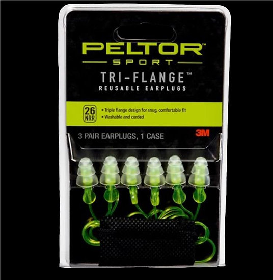Peltor Sport Tri-Flange Safety EarPlugs