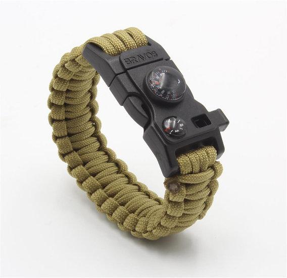BRAVO8 Paracord Bracelet (Brown)