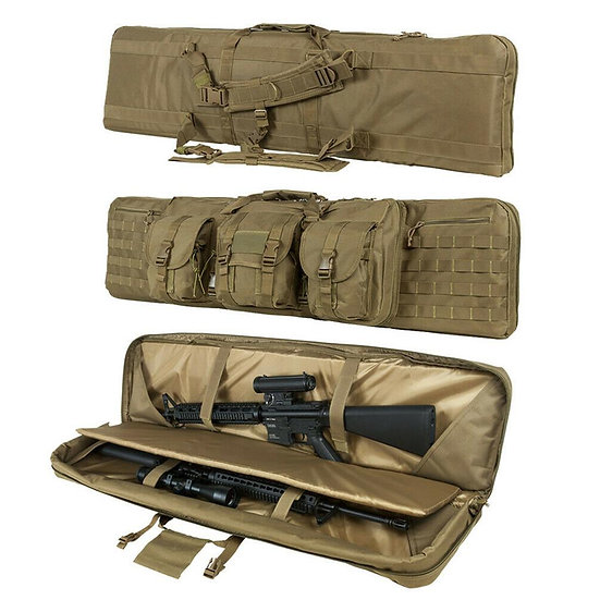 Double Long Rifle Pistol Gun Bag