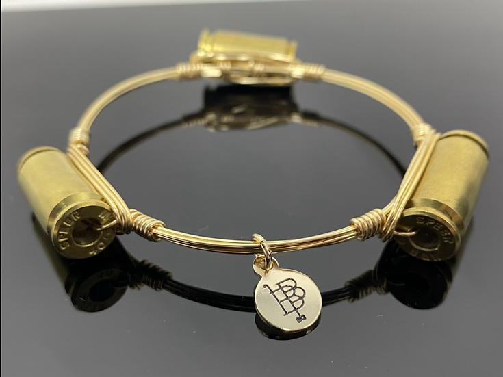 Boubon and Bowties Gold Bullet bangle