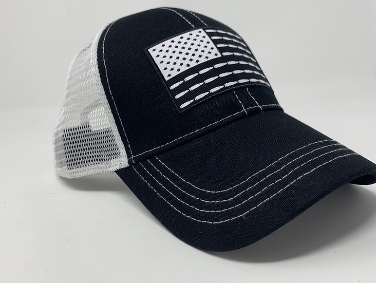U.S. Flag Bullet & Stars Trucker Hat