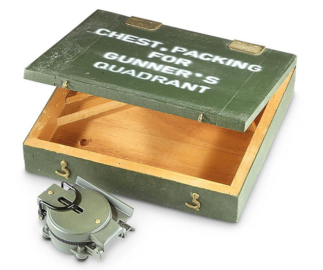 U.S. Military Gunners Quadrant Wooden Crate