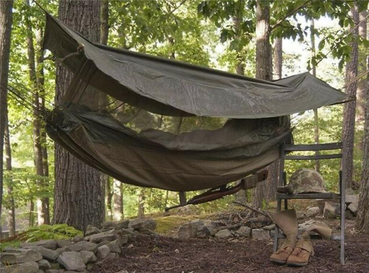 Military Jungle Hammock with Built In Mosquito Net