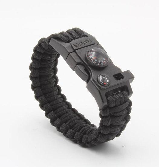 BRAVO8 Paracord Bracelet (black)