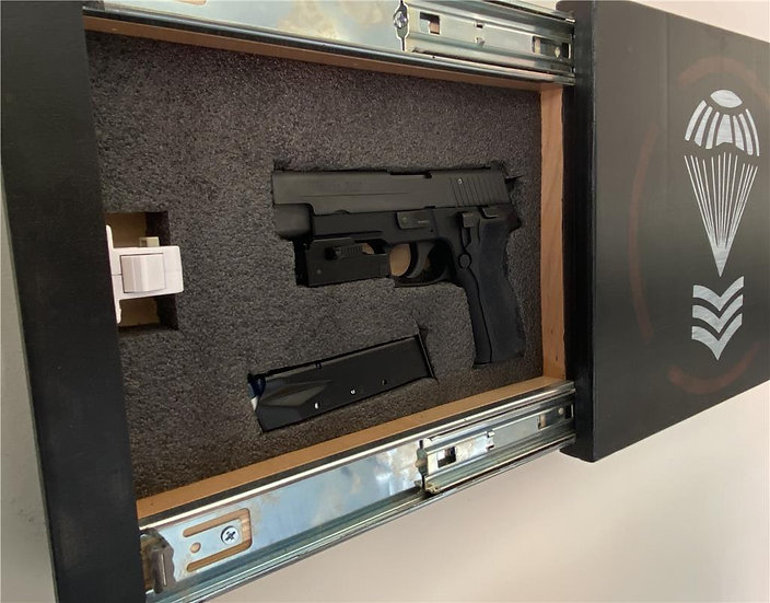 Premium Wall Art Wooden Concealment Storage Gun/Money Safe