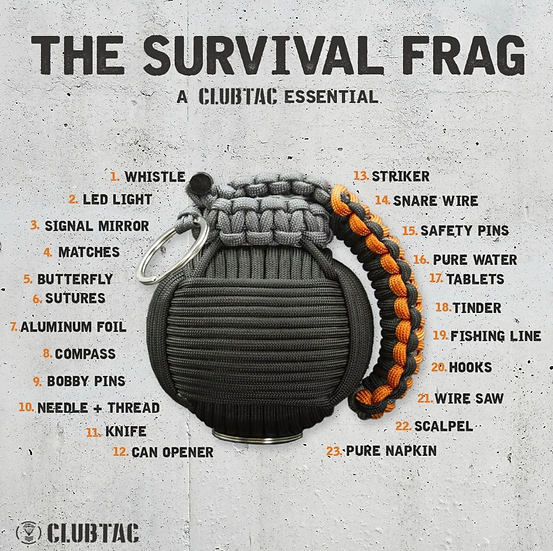 19 in 1 Paracord Frag Grenade