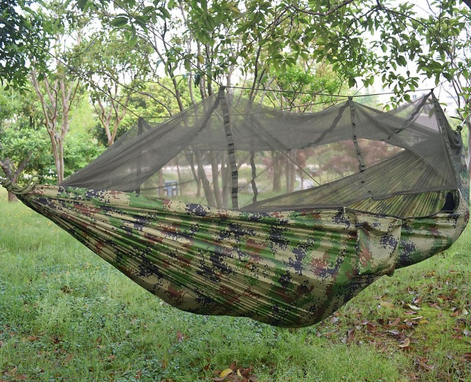 Camo Hammock with Mosquito Net