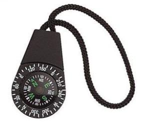 Bugout Bag Zipper Pull Compass