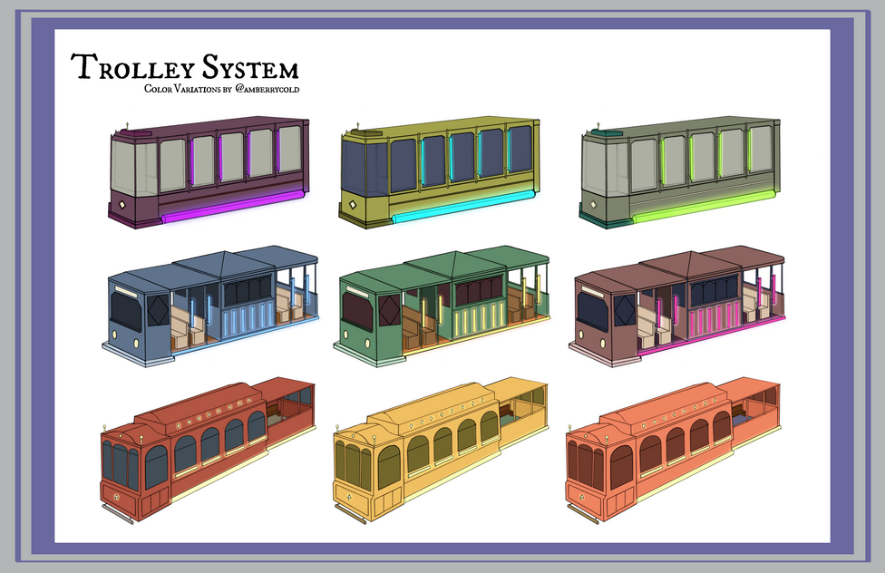Trolley Color Variations