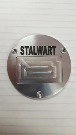 Aluminum cover marked with LaserBond 100