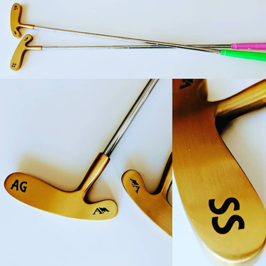 Brass putter marked with LaserBond 100.  Photo Credit: Excalibur Trophy & Awards