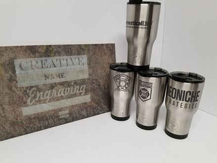 Laser marking results on stainless steel products