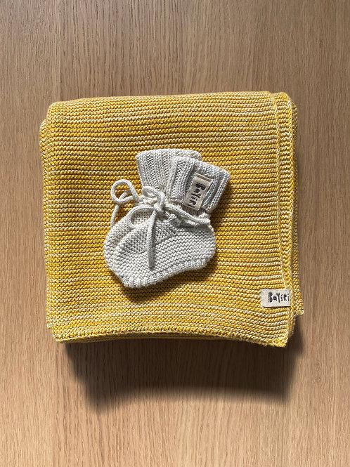 GOLD Blanket & Booties Set