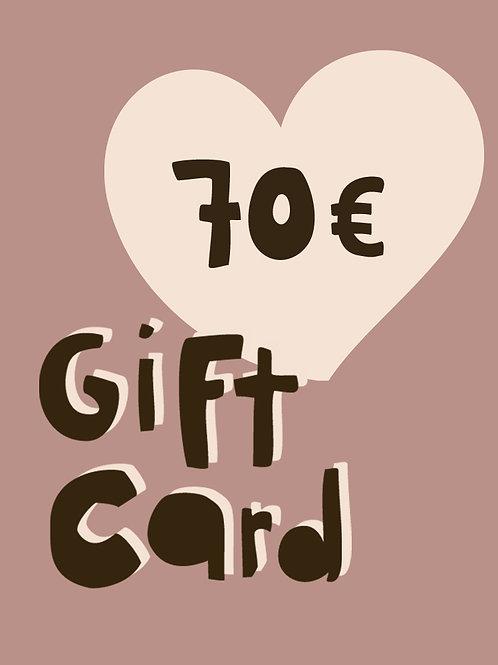 70€ GIFT CARD