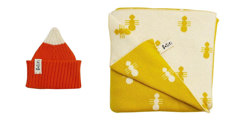 2 pieces - Blanket & Beanie Set