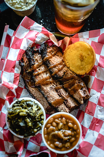 Brisket Plate with 2 sides (Includes Sauce)