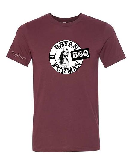 Bryan Furman BBQ Maroon Shirt