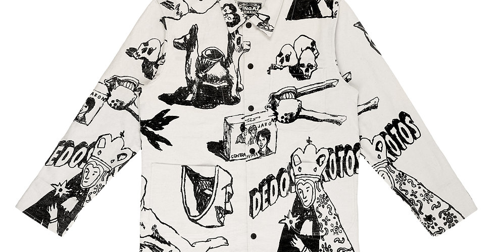 BROKEN FINGAZ X HERMANOS KOUMORI - WHITE DENIM JACKET
