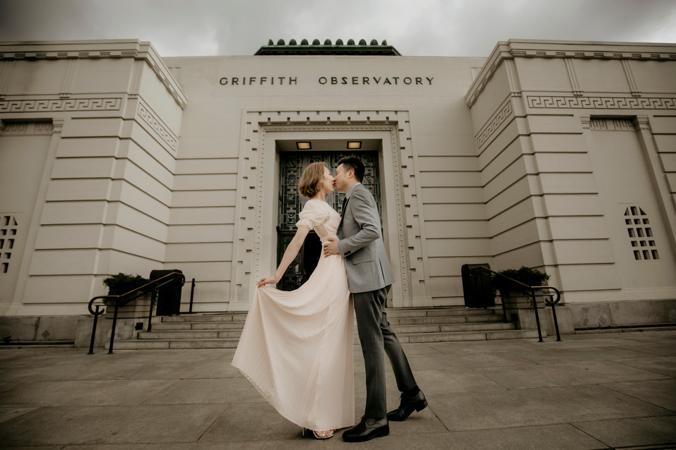 Griffith Observatory Engagement Pre Wedding Session