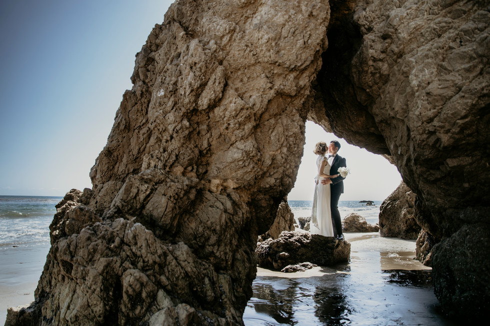 Malibu El Matador Beach Engagement Session