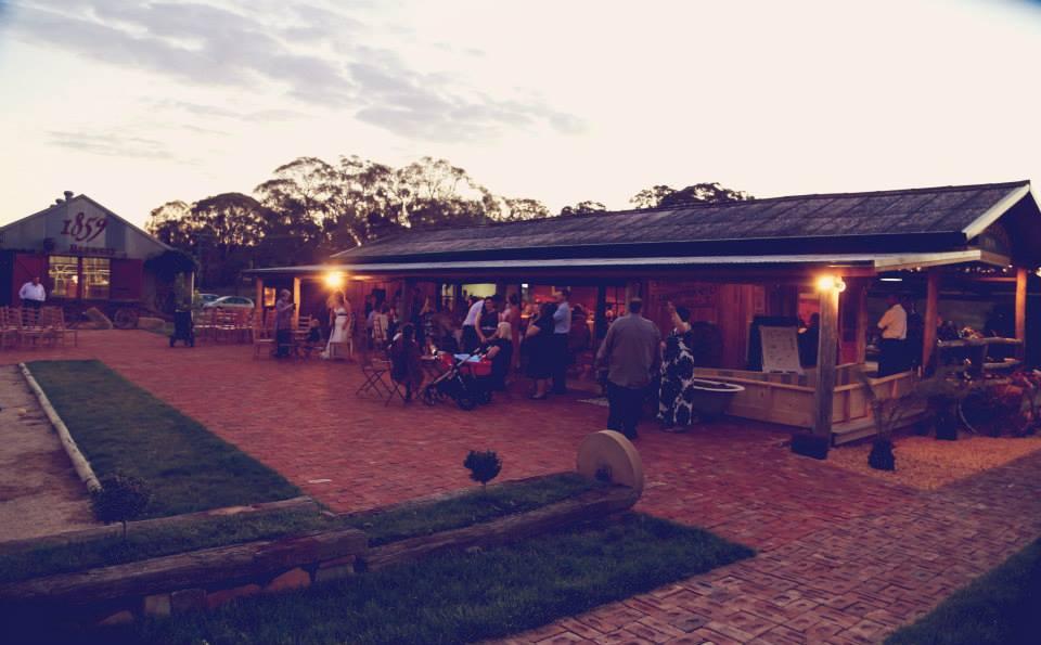 night time cortyard area